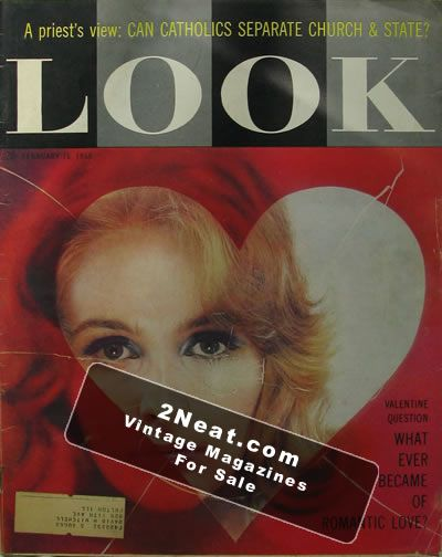 16 LOOK MAGAZINES FROM THE 50S GREAT ADVS. LOT 9-17-1