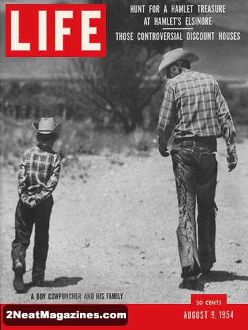 For Sale Life Magazine August 9 1954 Cowboys 2neat