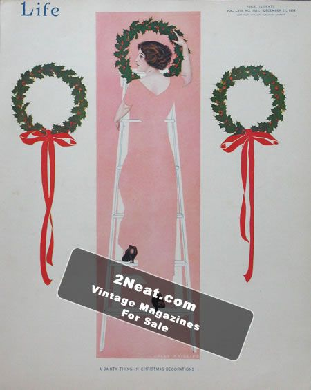 coles phillips christmas decorations life magazine december 21 1911 - Coles Christmas Decorations