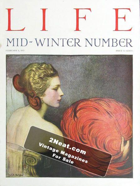 for sale life magazine february 8 1923 2101 w t benda