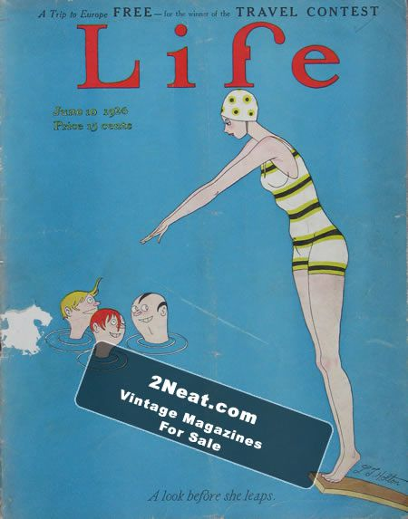 Life Magazine – June 10, 1926 (# 2275) - Swimming Pool