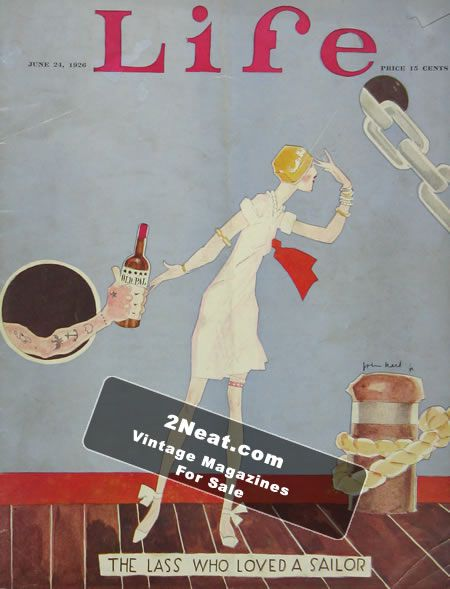 Cover illustration,Life magazine,1926,flapper,Held,John Photo