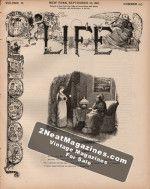 Life Magazine - September 22, 1887