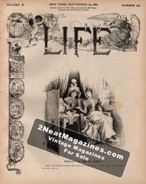 Life Magazine - September 29, 1887