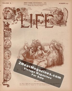 Life Magazine - November 3, 1887