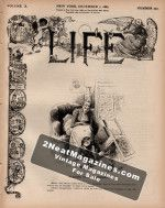 Life Magazine - December 1, 1887