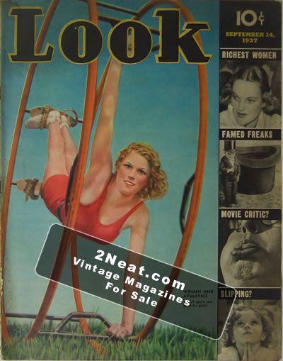 LOOK Magazine September 26 1950 CHARLESTON - TOLEDO - REDS - SKI - RED ROLFE -