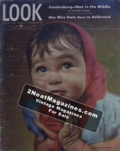 LOOK MAGAZINE - 1949 MAY 10 - GREAT COVER, PHOTOS and ADS - FAIR TO GOOD CONDITION