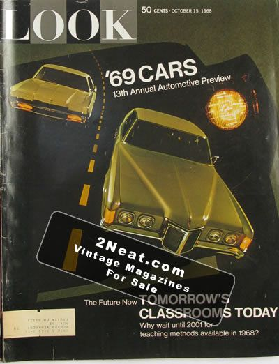 For Sale Look Magazine October 15 1968 Cars