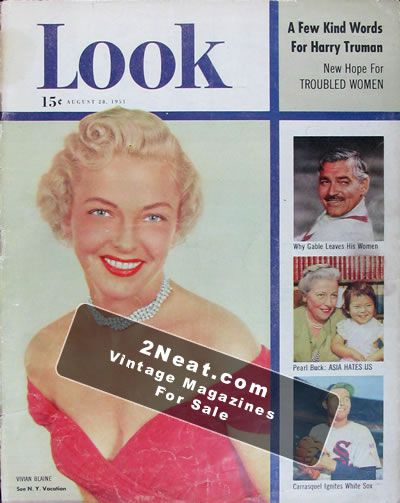 e910780d1 For Sale - LOOK Magazine - August 28, 1951 - Chicago White Sox ...