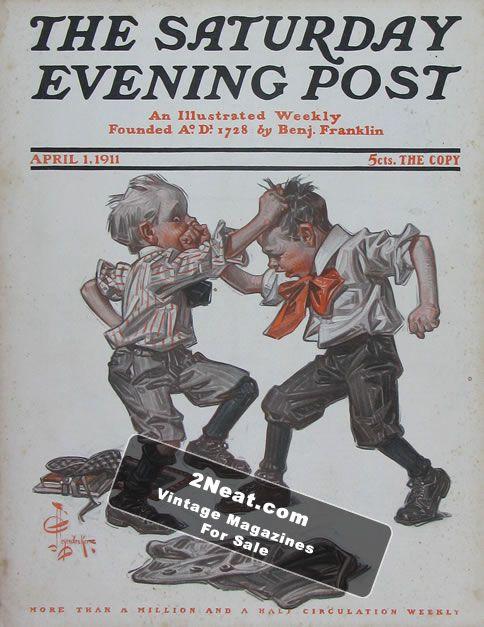 J.C. Leyendecker Saturday Evening Post Magazine Issue August 27 1927 SUMMER